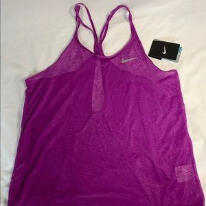 Nike Stay Cool Dri-Fit Medium Pink Sheer Tank Top